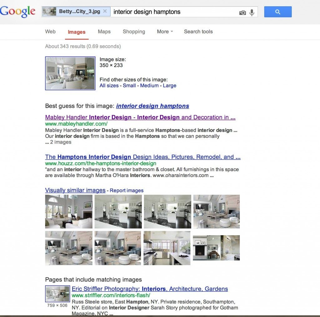interior design image search